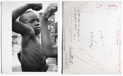 Leonard Freed, 'Boys in a swimming pool on the roof of a school building in Harlem, NY, pl 72 and cover', 1963