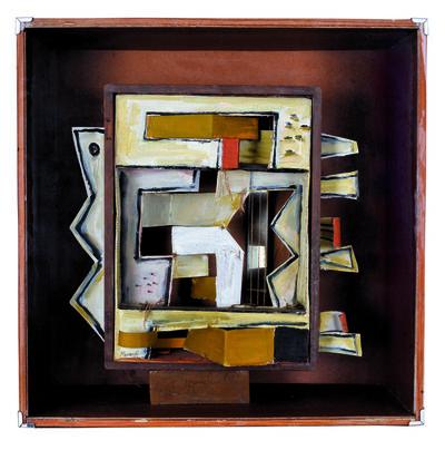 Marta Morandi, 'Caja constructiva en amarilla'