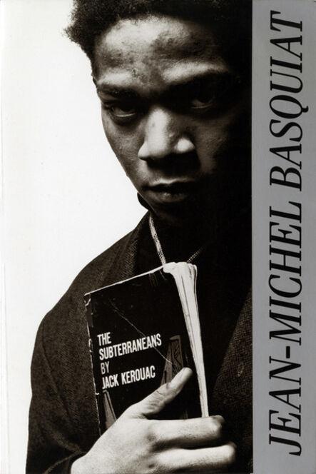 Jean-Michel Basquiat, 'Basquiat at Vrej Baghoomian announcement 1988 (Basquiat Portrait with Jack Kerouac)', 1988