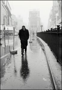 Dennis Stock, 'James Dean haunted Times Square. For a novice actor in the fifties this was the place to go. The Actors Studio, directed by Lee Strasberg, was in its heyday and just a block away. New York, USA', 1955