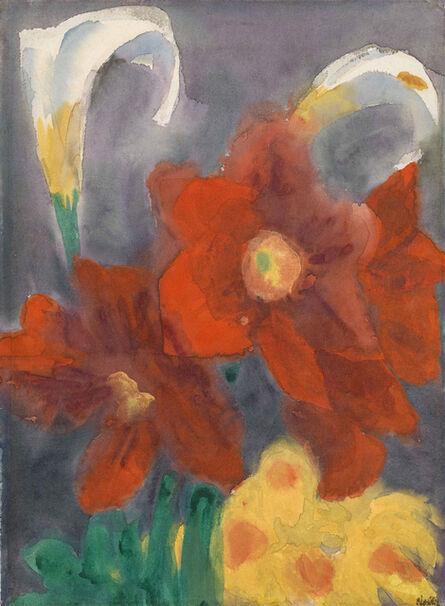 Emil Nolde, 'Calla Lily, Amaryllis and Narcissi', 1930/1940