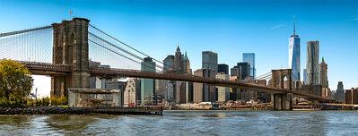Andrew Prokos, 'Panoramic Skyline of the Brooklyn Bridge and Manhattan', 2017