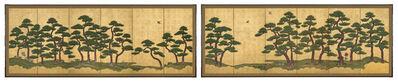 Unknown Artist, 'Pair of Six-Panel Screens, Pine Trees (T-3606L)', Edo period (1615, 1868), 18th century