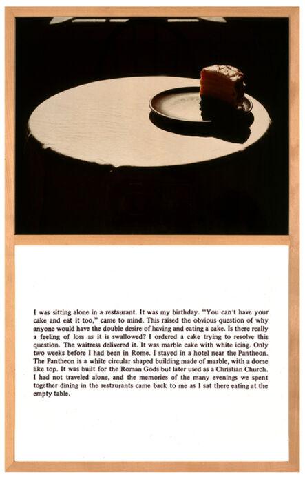 Bill Beckley, 'Cake Story', 1974
