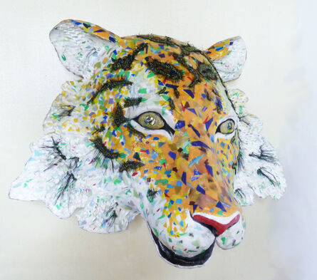 Yulia Shtern, 'Amur- Sculpture of Endangered Siberian Tiger Created from Up-Cycled Recycled Material', 2020