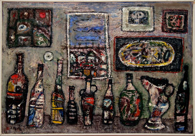 ANTUN MASLE, 'Bottles and Paintings', 1963