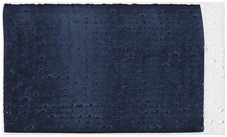 Analía Saban, 'Brushstroke Matrix, L (Payne's Gray)', 2017