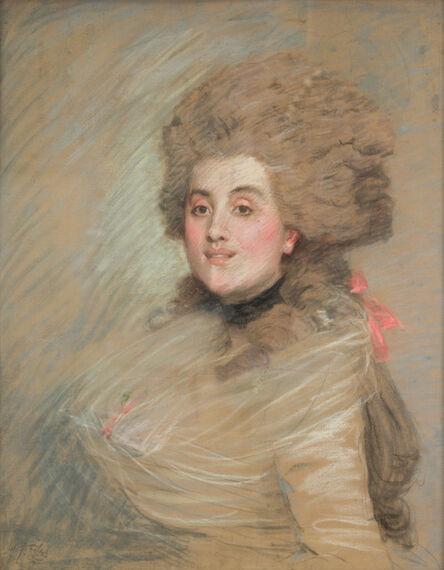 James Jacques-Joseph Tissot, 'Portrait of an Actress in Eighteen Century Dress', ca. 1883
