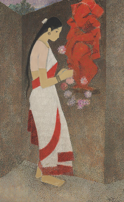 N. S. Bendre, 'Untitled (Woman and Ganesha)'