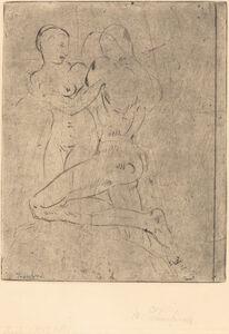 Wilhelm Lehmbruck, 'Rape II (Raub II, Weib halb)', 1911