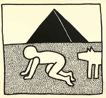 Keith Haring, 'Untitled, from The Blueprint drawings (1990) (signed)', 1990