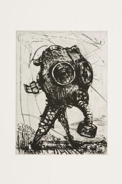 William Kentridge, 'L'Inesorabile Avanzata, Gas Mask', 2007