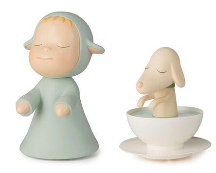 Yoshitomo Nara, 'I. The Little Wanderer / II. Pup Cup (set of 2)', 2003