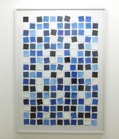 Vik Muniz, 'Handmade: Untitled (Messy squares) - blue', 2017