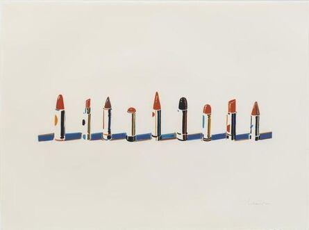Wayne Thiebaud, 'Lipstick Row', 1970