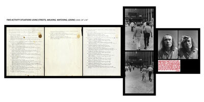 Vito Acconci, 'Two activity situation using streets, walking, watching, losing', 1969