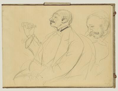 Edgar Degas, 'Opera Fan and Ernest Reyer', 1877