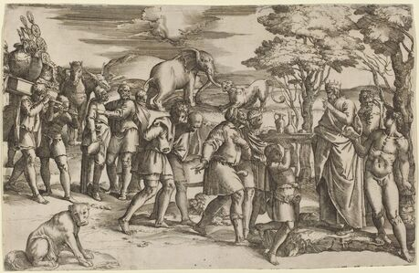 Battista Franco, 'Abraham Paying Tithes to Melchisedek'