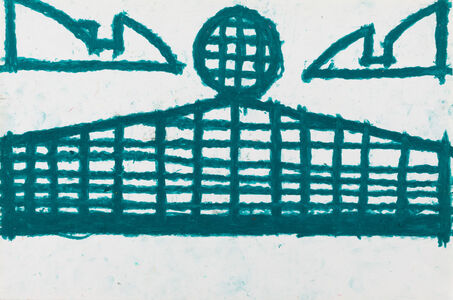 Evelyn Reyes, 'Fence with Sandwich (Green)', 2002-2004