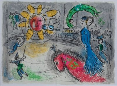 Marc Chagall, 'Sun with Red Horse', 1979