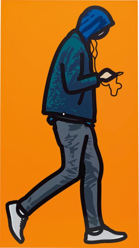 Julian Opie, 'Man in the rain with ipod', 2012