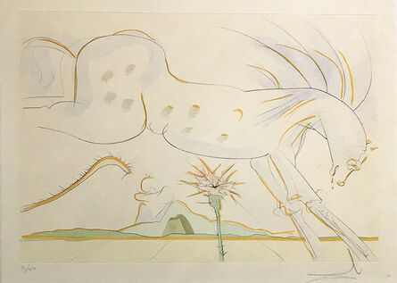 Salvador Dalí, 'Le Cheval et le Loup (The Horse and the Wolf) from the series Le Bestiaire de la Fontaine Dalinise', 1974
