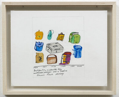Michael Smith (American, b. 1951), 'Backpacks: Drawn From Memory', 2005
