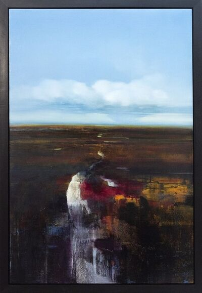 James Lahey, 'Stream Through a Field in Spring - Earthy tones with spots of crimson and umber', 2001
