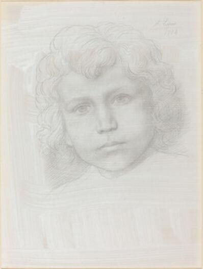 Alphonse Legros, 'Study of Cupid (Head of a Girl)', 1904