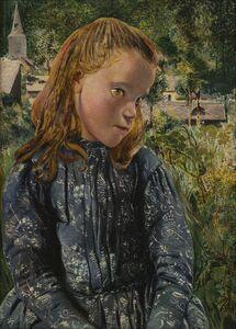 Léon Frédéric, 'La petite Ardennaise à la robe bleue (Young Ardennaise Girl in a Blue Dress)', 1896