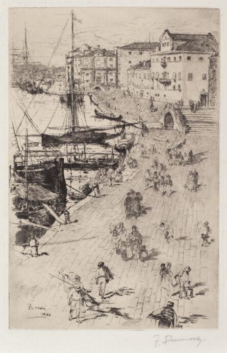 Frank Duveneck, 'Riva degli Schiavoni (1)', 1880