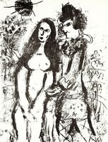 Marc Chagall, 'Clown in Love', 1963