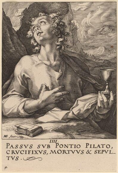 Hendrik Goltzius, 'Saint John', probably 1589