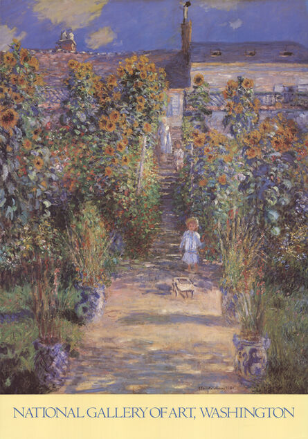 Claude Monet, 'The Artist's Garden at Vetheuil', 1989