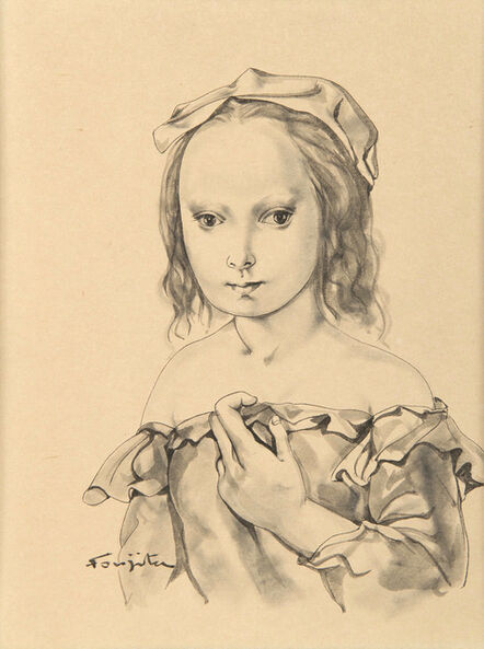 Léonard Tsugouharu Foujita 藤田 嗣治, 'Portrait de jeune fille', ca. 1952