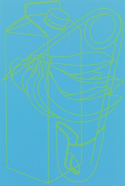 Michael Craig-Martin, 'Untitled (blue/green)', 2009