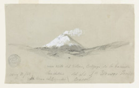 Frederic Edwin Church, 'View of Cotapaxi from the Hacienda San Antonio, Ecuador', 1853