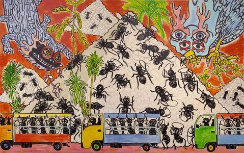Nobuaki Takekawa, 'Demolition of Rice Pyramid', 2020