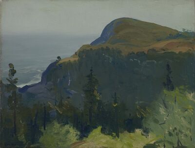 George Wesley Bellows, 'Hill and Valley', 1913