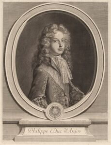 Gerard Edelinck after Francois de Troy, 'Philippe, Duke of Anjou'