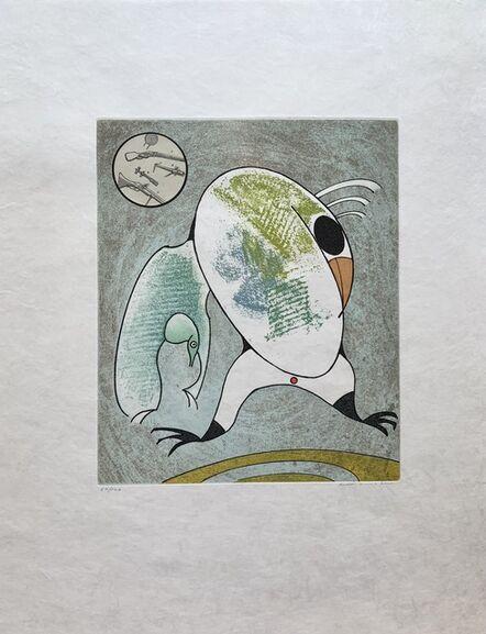 Max Ernst, 'Devant mon aile droite couve le morne militaire', 1975