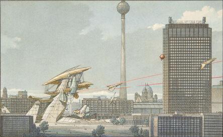 Lebbeus Woods, 'Underground Berlin 19, Elevation View', 1988