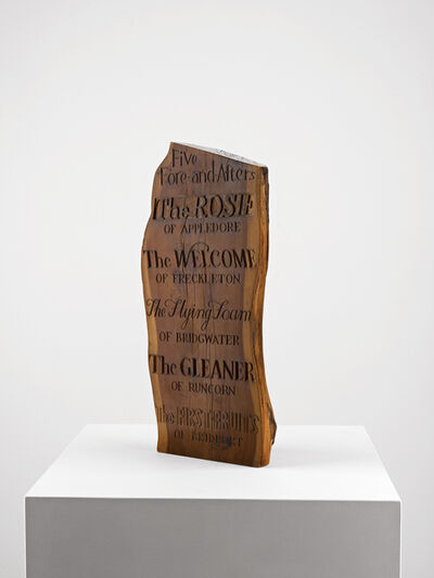 Ian Hamilton Finlay, 'Five Fore-and-Afters', ca. 1970