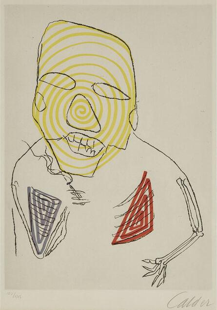 Alexander Calder, 'Santa Claus (From Santa Claus Folio Of 9 Etchings, Text By E.E. Cummings)', 1974