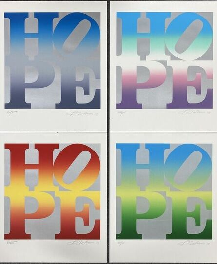 Robert Indiana, 'Four Seasons of Hope Portfolio (Silver)', 2012