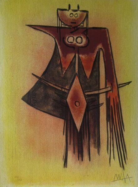Wifredo Lam, 'Demoiselle Blasonee, from the suite Pleni Luna.', 1974