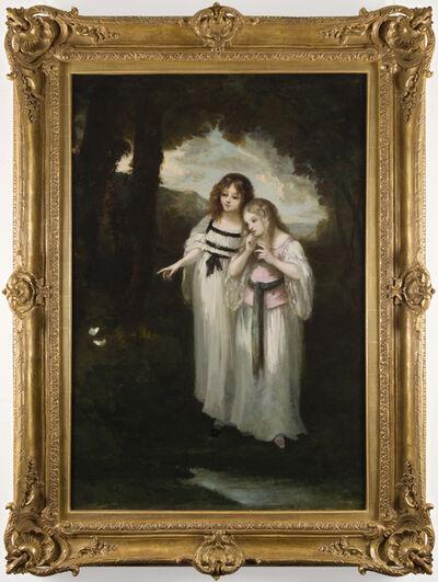 Narcisse Diaz de la Peña, 'Tendre Adolescence et papillons', ca. 1860