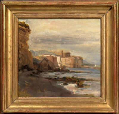 Auguste Jean-Baptiste Vinchon, 'Castle on the Shore; Early Morning', Early 19th Century