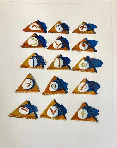 Wayne Thiebaud, 'Triangle Thins', 1971