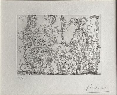 Pablo Picasso, 'Circus: chariot and clown', 1968